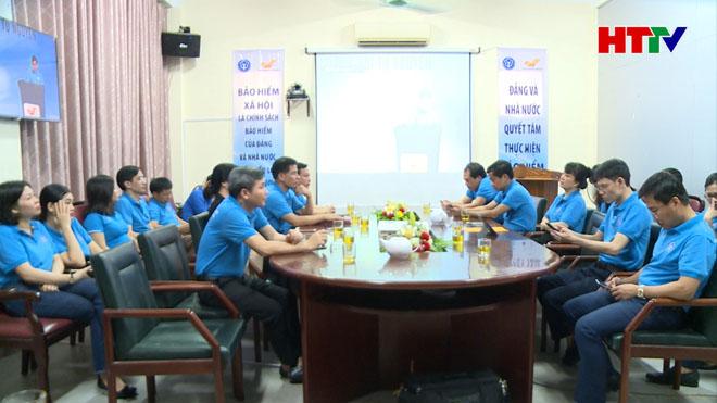 Đại biểu tham gia Lễ ra quân trực tuyến hưởng ứng Tháng vận động triển khai Bảo hiểm xã hội toàn dân tại Hà Tĩnh