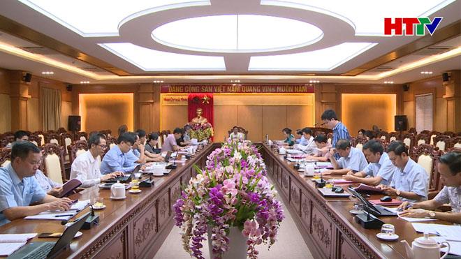 Thường trực Tỉnh ủy làm việc với Tiểu ban Văn kiện Đại hội Đảng bộ tỉnh lần thứ XIX nhiệm kỳ 2020 – 2025